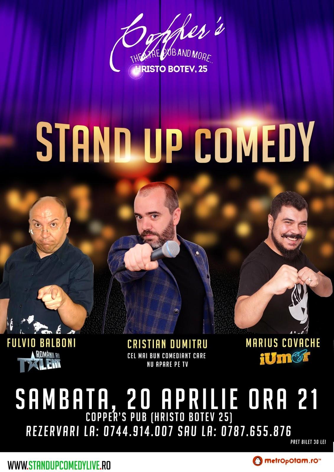 Stand-Up Comedy Bucuresti Sambata 20 Aprilie 2019