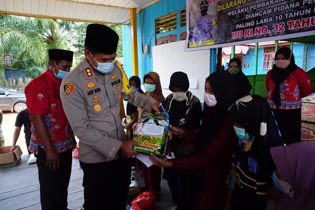 Tatap Muka di Desa Batu Kotam, Kapolres Lamandau Sampaikan 4 Fokus Polda Kalteng