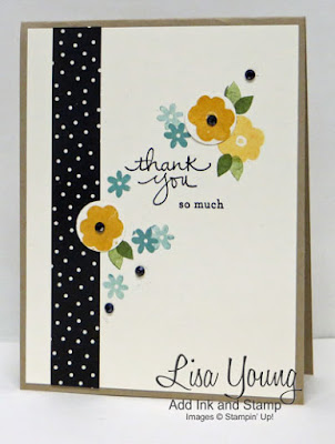 Stampin' Up! Endless Thanks stamp set. Handmade Thankyou card by Lisa Young, Add Ink and Stamp