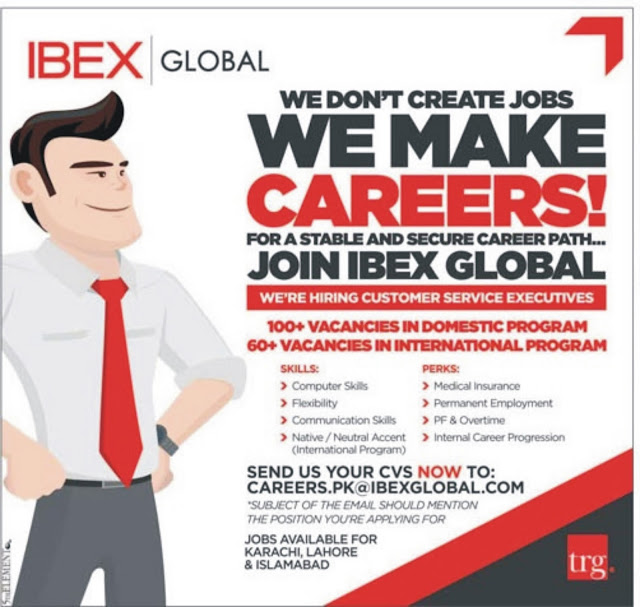 Customer Service Executives Jobs in Pakistan IBEX Global For Freshers