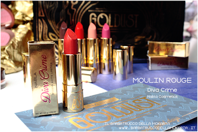 MOULIN ROUGE  REVIEW diva crime goldust collection Nabla cosmetics