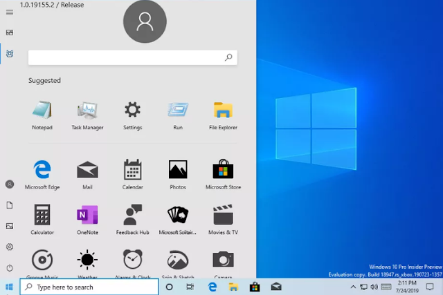 التسريب دقيق ، لكن يمكن اقتراحه لـ Windows Lite بدلاً من الإصدار الكامل من Windows 10. تبدو قائمة Start الجديدة المقترحة مثل المدرسة القديمة الموجودة لدينا حاليًا مع Windows 10.