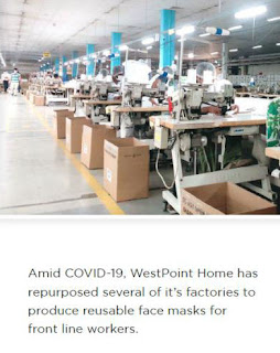 westpoint home's repurposed factory making face masks