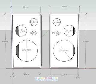 Skema Box Speaker 3 Way standar- gambar 3