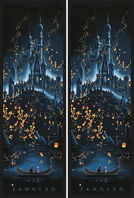 Disney's Tangled Screen Print by JC Richard x Cyclops Print Works