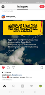 Cara mudah  download foto/gambar video Instagram