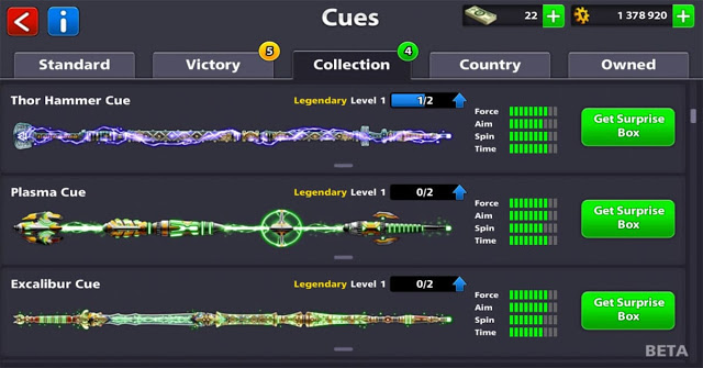 How to get legendary Cue 8bp for free