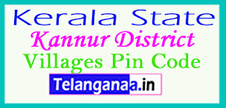 Kannur District Pin Codes in Kerala State