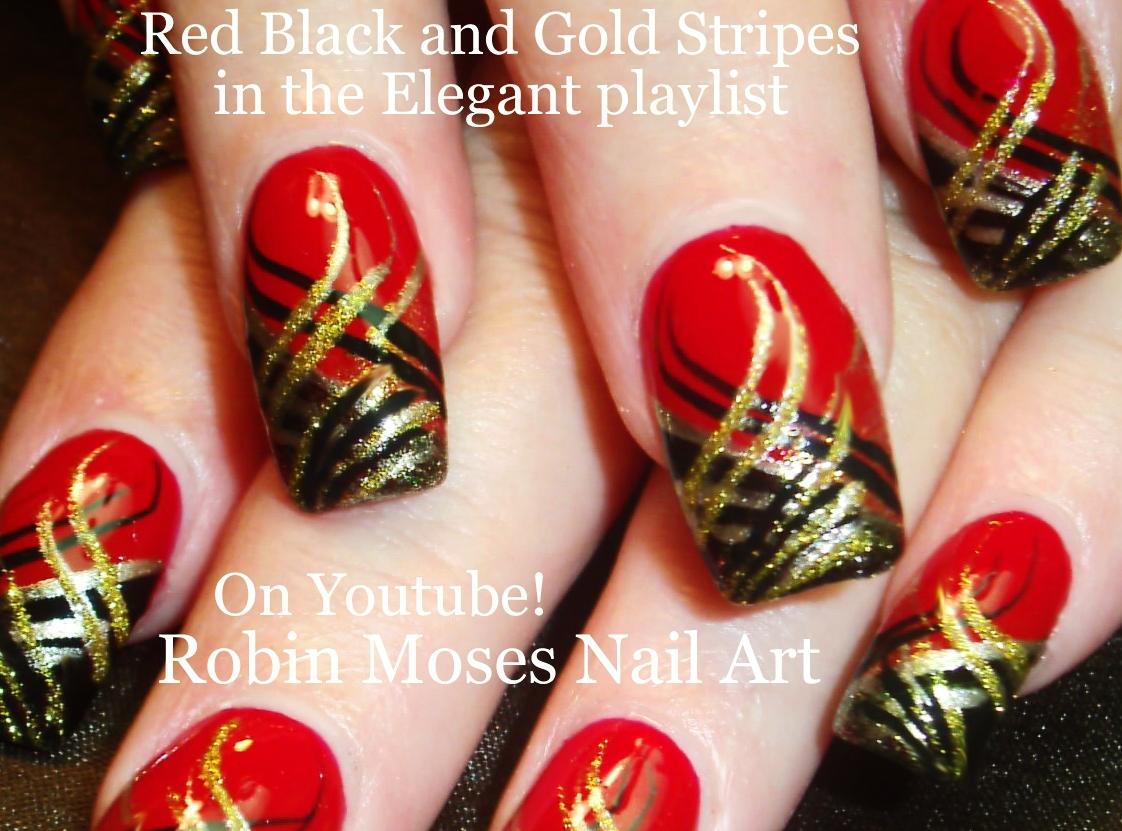 Nail Art By Robin Moses Trash Polka Nails For Halloween