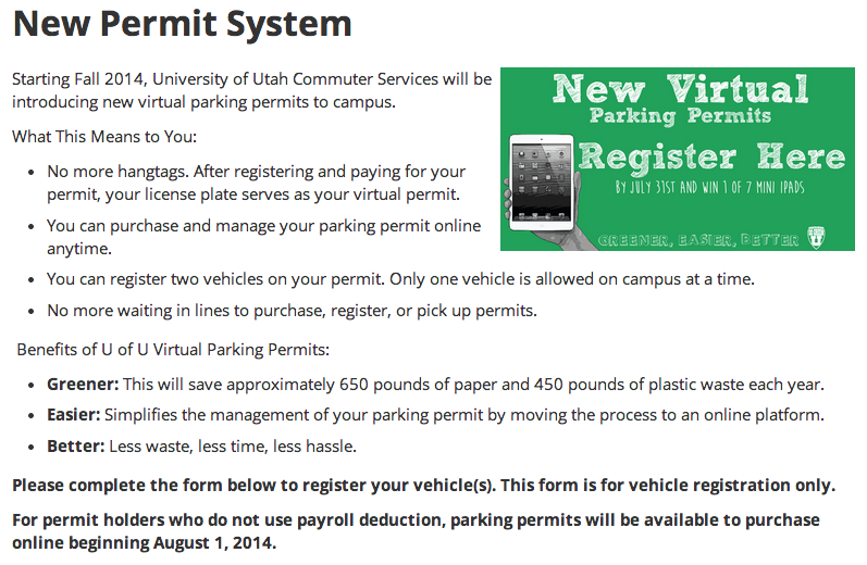 Wasatch Weather Weenies: Virtual Parking Passes