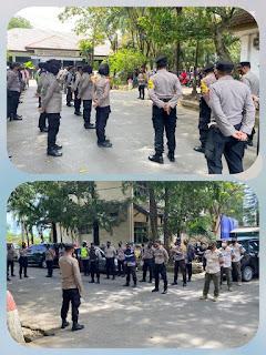 Paham SOP Penanganan Aksi Unras, 65 Personil Polres Gowa Di Terjunkan