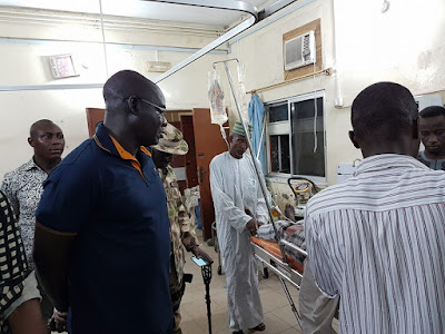 Chief Of Army Staff Visits Injured Soldiers And Humanitarian Staff In Borno. Photos