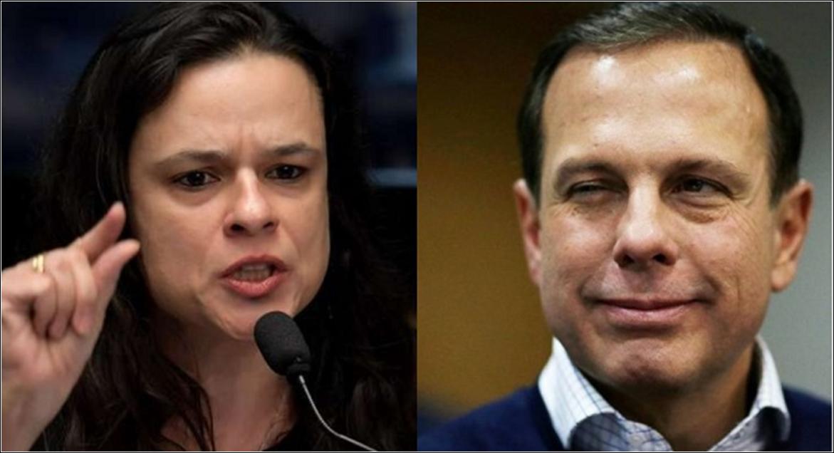 """Janaína diz que Doria """"vai quebrar São Paulo"""" por voltar a restringir comércios"""