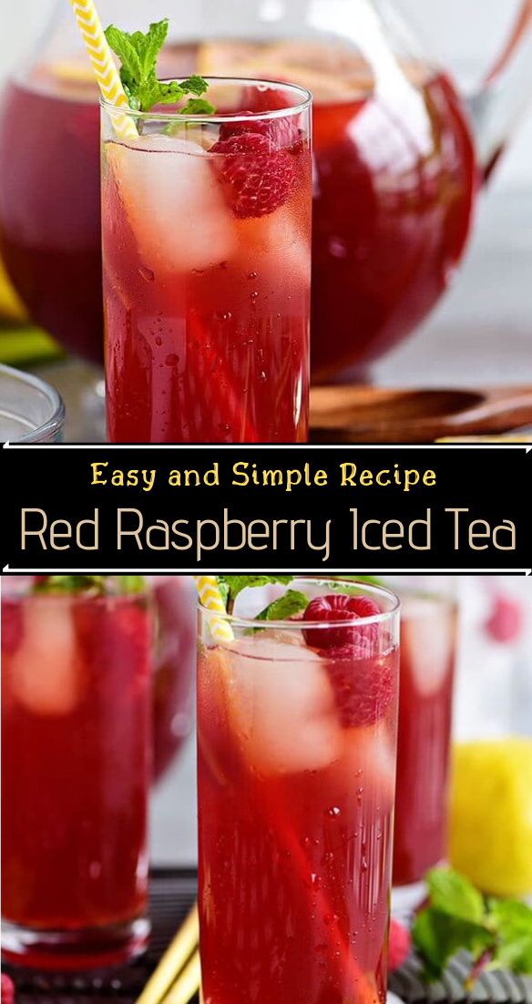 Red Raspberry Iced Tea  #healthydrink #easyrecipe #cocktail #smoothie
