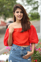 Rhea Chakraborty in Red Crop Top and Denim Shorts Spicy Pics ~  Exclusive 164.JPG