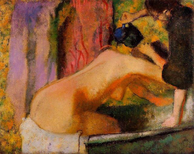 Эдгар Дега - Женщина в ванне (1893-1898)