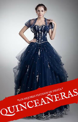 Imagenes de vestidos de 15 de color azul