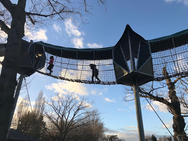 the giant climbing frame at Preston Park Museum Teeside
