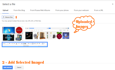 upload image on blogger blog