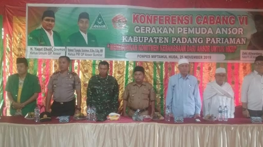 Alva Anwar Terpilih Aklamasi, Ansor Padang Pariaman Fokus Pengkaderan