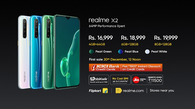 Realme announced in event Realme X2 Price in India Rs. 16,999 and Realme Buds Air Rs. 3,999.