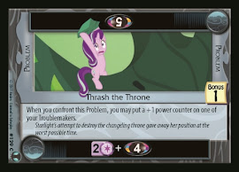 My Little Pony Thrash the Throne Defenders of Equestria CCG Card