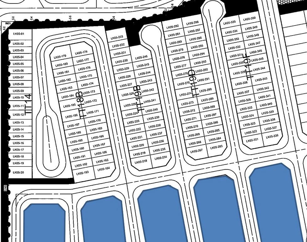 Bản đồ phân lô Liền Kề ST5 Gamuda Gardens