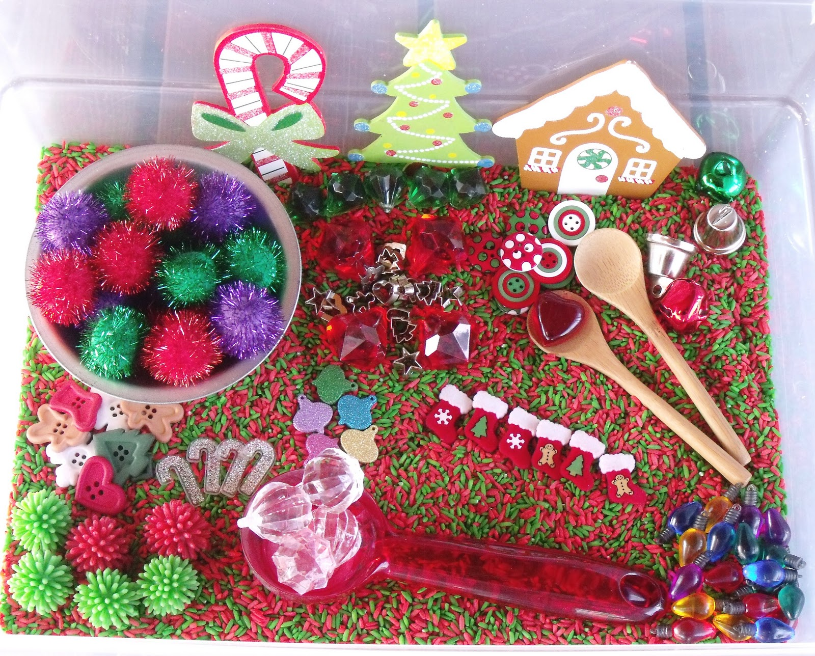 Nurturing Naters With Learning Activities At Home Christmas Sensory Tub December