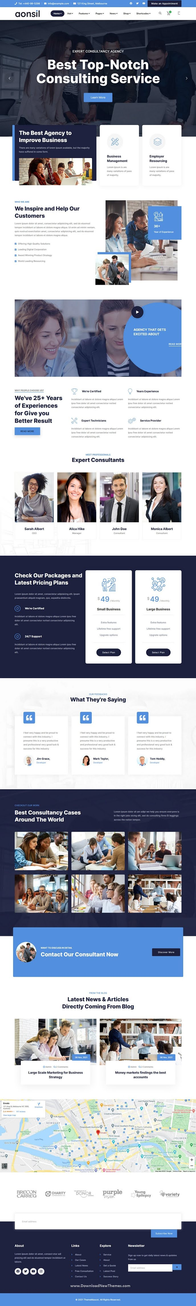 Business Consulting Bootstrap Template