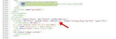 Widget Blog Tidak Muncul Pada Tampilan Mobile