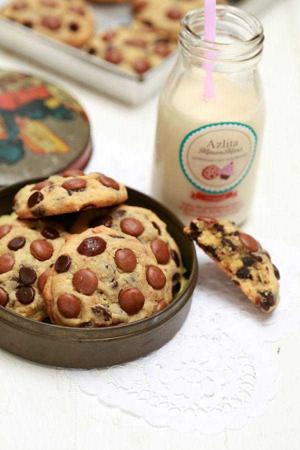 chewy choc chip cookies ala subway   sedap masam manis Resepi Biskut Coklat Chip Enak dan Mudah
