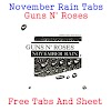 November Rain Tabs Guns N' Roses - (Acoustic Version)