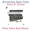 November Rain Tabs Guns N' Roses - (Acoustic Version)