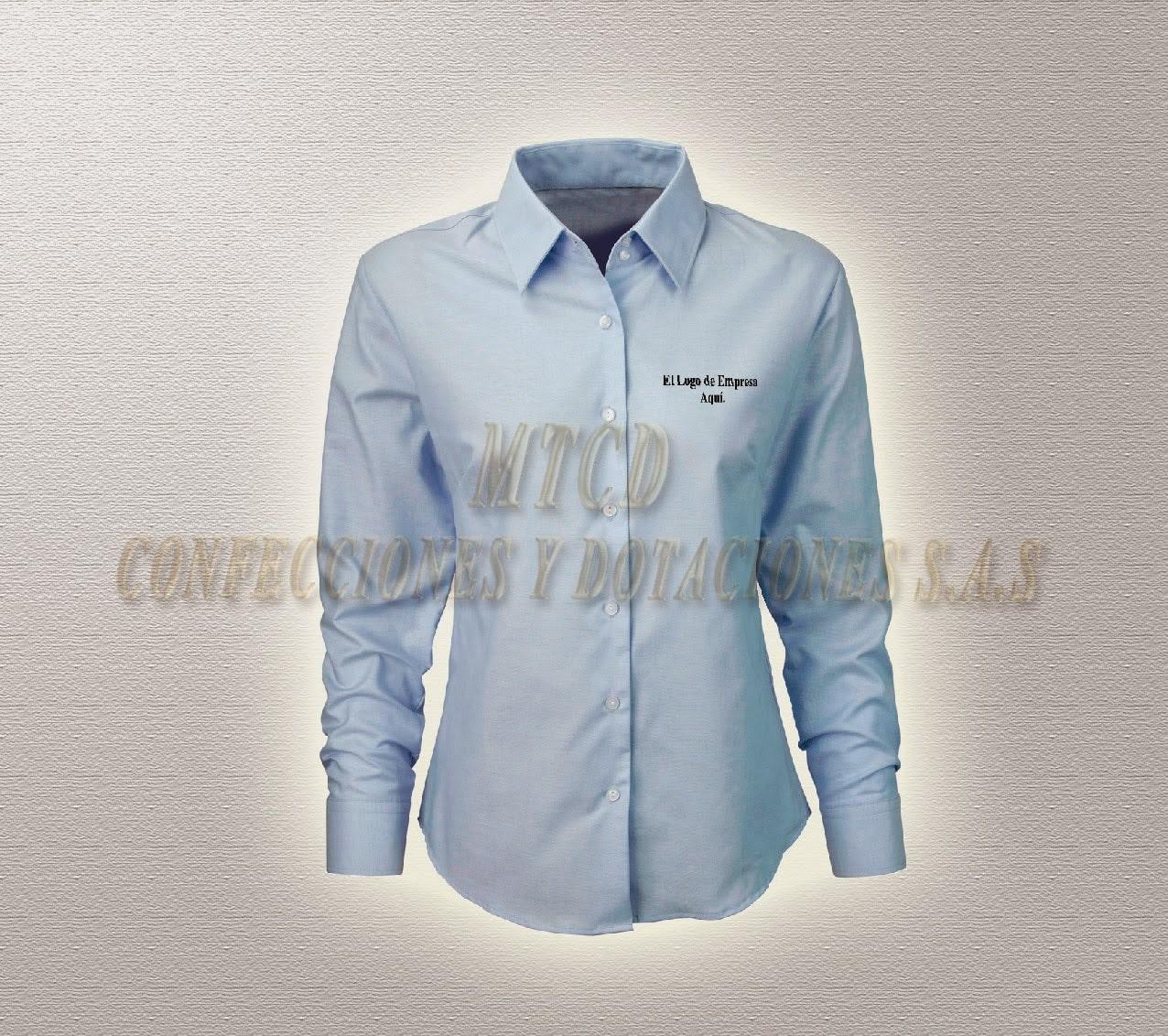 Camisa de dotación para mujer azul