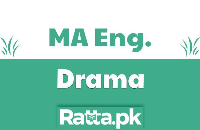 MA English Drama Past Paper 2019