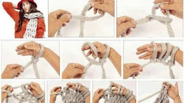 Cómo tejer sin agujas con las manos