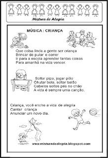 Dia das crianças música criança