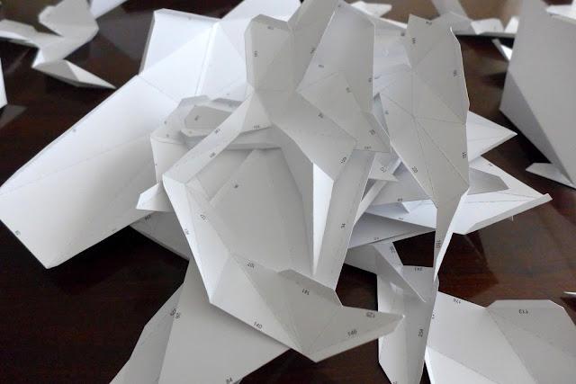 Instrukcja składania papierowego modelu jelenia