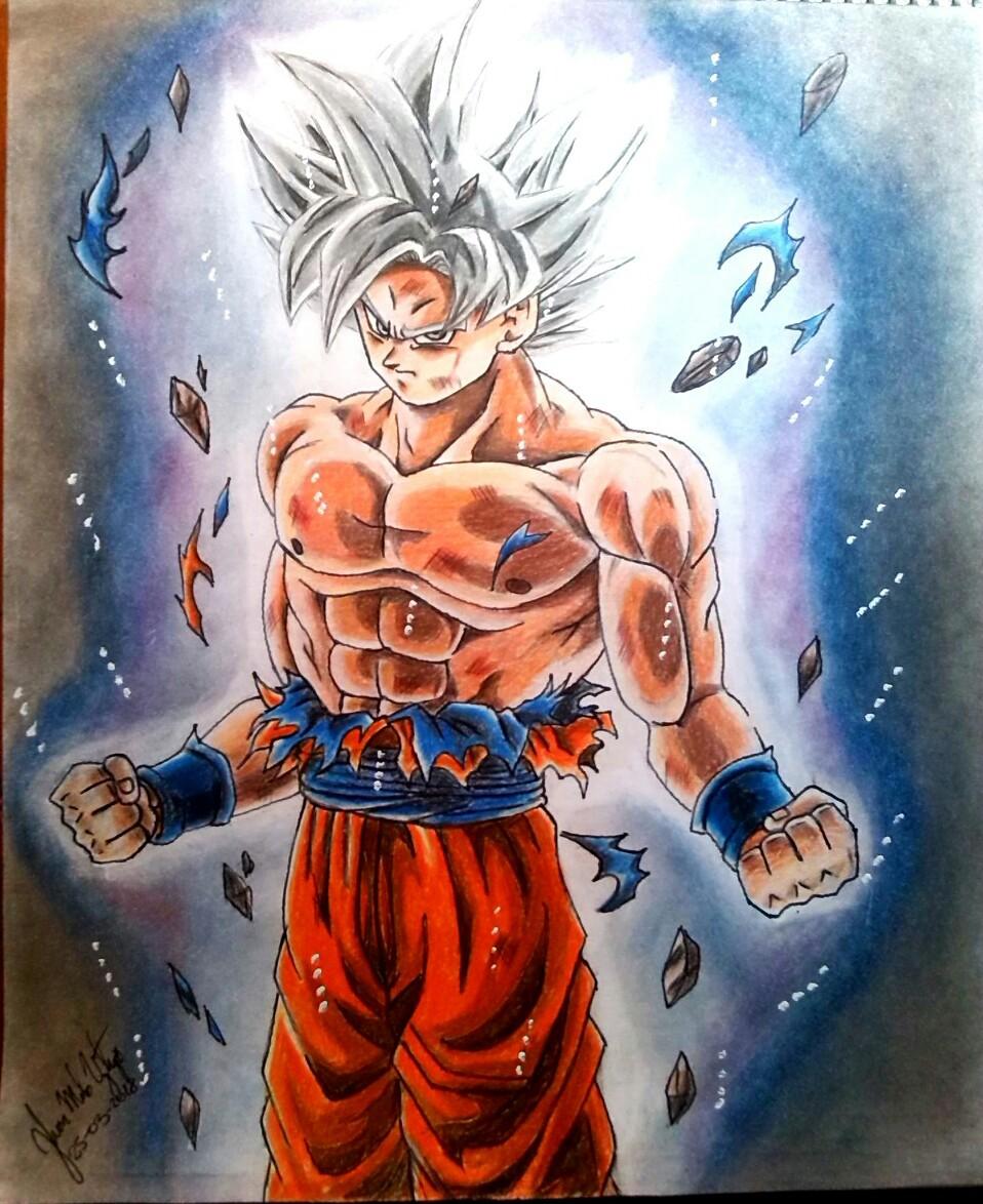 Dibujemos A Como Dibujar Goku Ultra Instinto Dominado Reto Colores