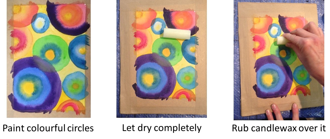 Aquarellista ideas for new year greeting cards in watercolours one of the following the new year starts with a bang cards 1 agns experimented with a combination of watercolours candlewax and black gouache m4hsunfo