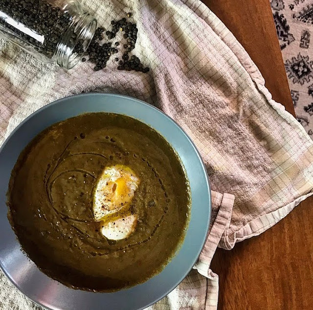 Crémeux healthy de lentilles et son oeuf poché charlotte and cooking