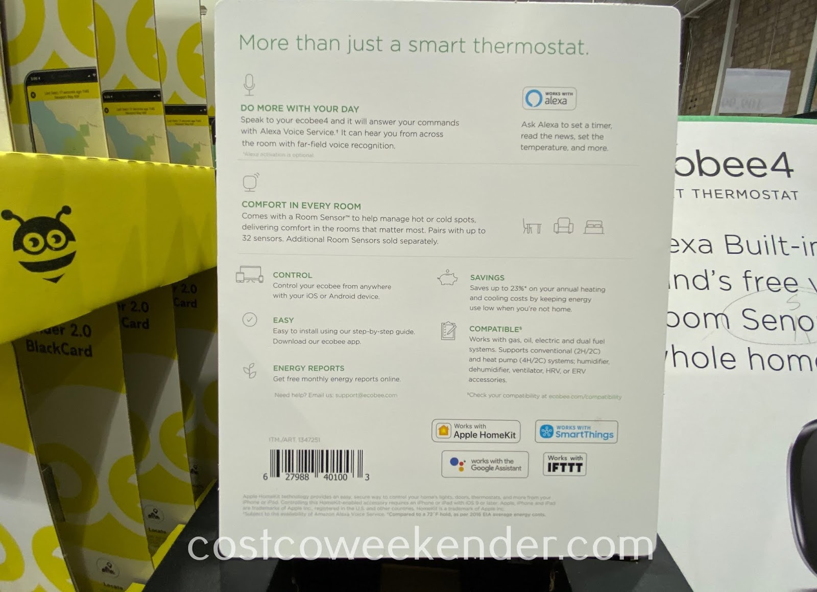 Costco 1347251 - ecobee4 Smart Thermostat: great for any home