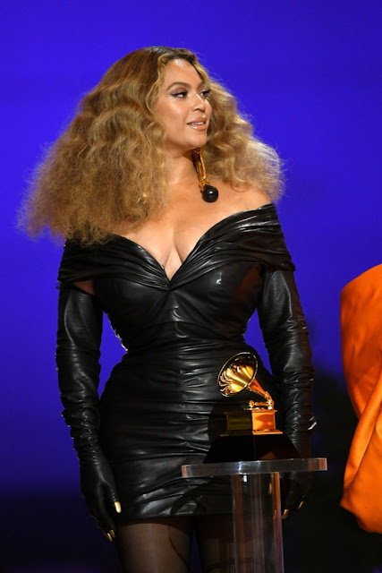 Beyonce at 2021 Grammy Awards in Los Angeles