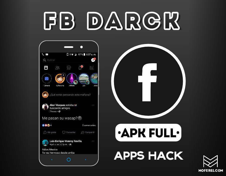 Facebook BLACK 2019 APK MOD ( ULTIMA VERSION ) - Mofers