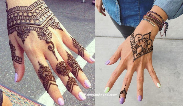 Casual & Simple yet elegent Mehendi Designs for 2017