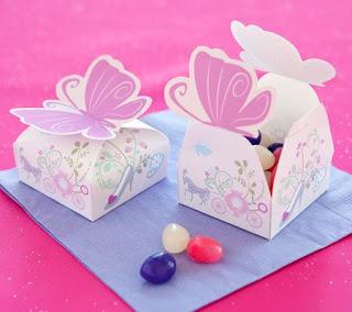 Cajas imprimibles con cierre de mariposa para Fiesta de Cenicienta.