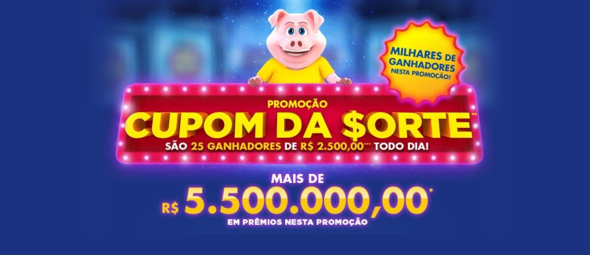 Participar Sorteios CUPOM DA SORTE Tele Sena 2020 Prêmios Todo Dia - Nova Promoção