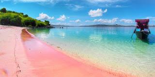 pink beach, labuan bajo