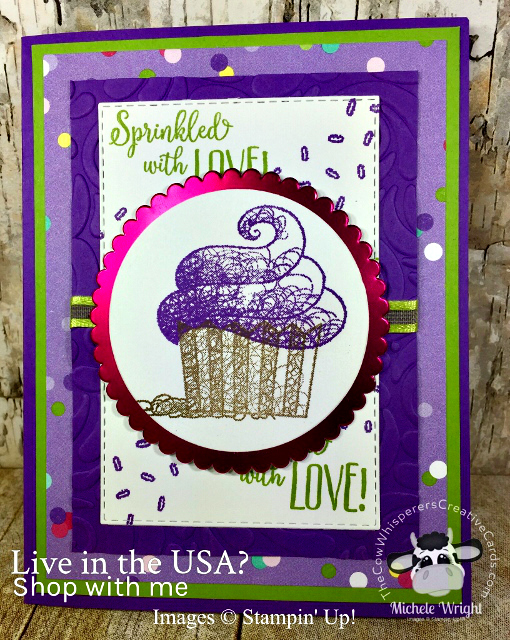 Card, Hello Cupcake, Swirls & Curls Embossing Folder, How Sweet it is