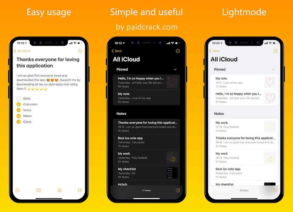 iNote iOS Style Pro Mod Apk 2.1.1